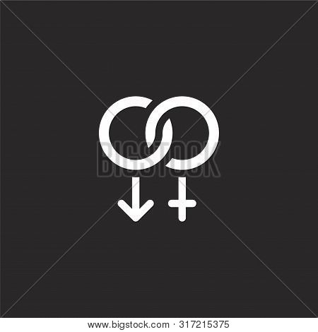 Heterosexual Icon. Heterosexual Icon Vector Flat Illustration For Graphic And Web Design Isolated On