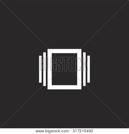 Albums Icon. Albums Icon Vector Flat Illustration For Graphic And Web Design Isolated On Black Backg