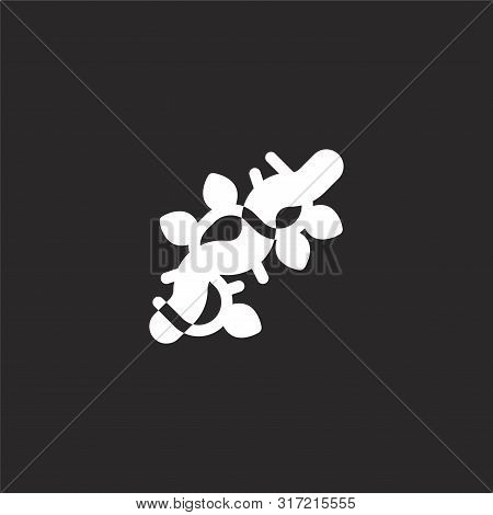 Vines Icon. Vines Icon Vector Flat Illustration For Graphic And Web Design Isolated On Black Backgro