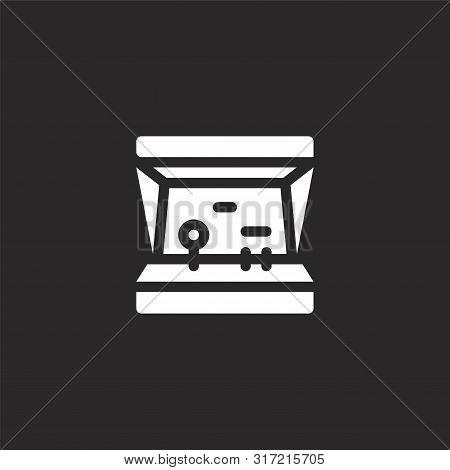Arcade Machine Icon. Arcade Machine Icon Vector Flat Illustration For Graphic And Web Design Isolate