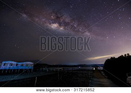 Beautiful Milky Way, Amazing Milky Way Galaxy At Borneo, The Milky Way, Long Exposure Photograph, Wi