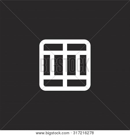 Divide Icon. Divide Icon Vector Flat Illustration For Graphic And Web Design Isolated On Black Backg