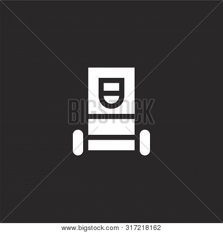 Electrotherapy Icon. Electrotherapy Icon Vector Flat Illustration For Graphic And Web Design Isolate