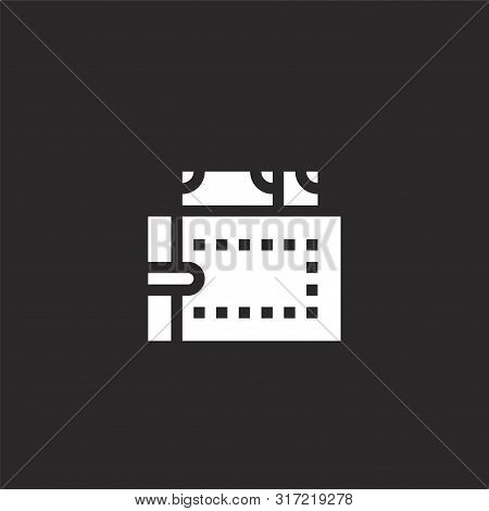 Wallet Icon. Wallet Icon Vector Flat Illustration For Graphic And Web Design Isolated On Black Backg