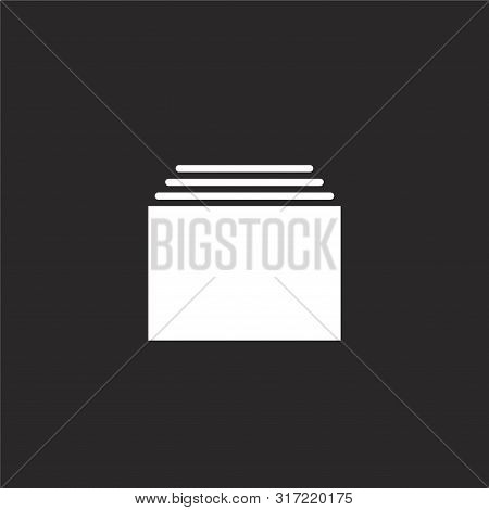 Tabs Icon. Tabs Icon Vector Flat Illustration For Graphic And Web Design Isolated On Black Backgroun