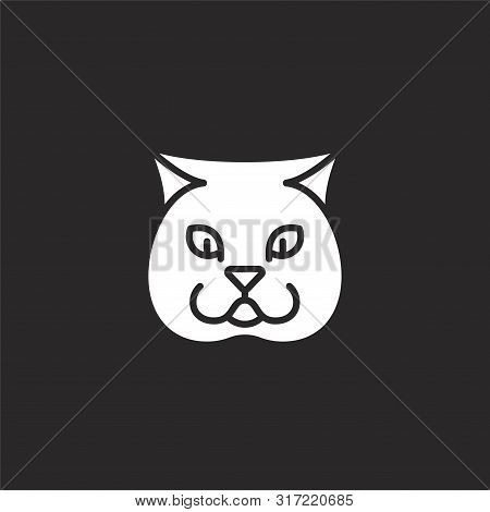 Chubby Icon. Chubby Icon Vector Flat Illustration For Graphic And Web Design Isolated On Black Backg