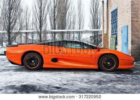 January 3, 2013; Kiev, Ukraine. Jaguar Xj220 (1991). Hypercar. Winter