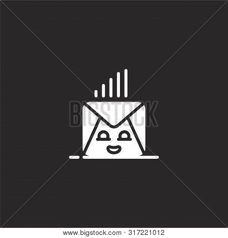 Receive Icon. Receive Icon Vector Flat Illustration For Graphic And Web Design Isolated On Black Bac