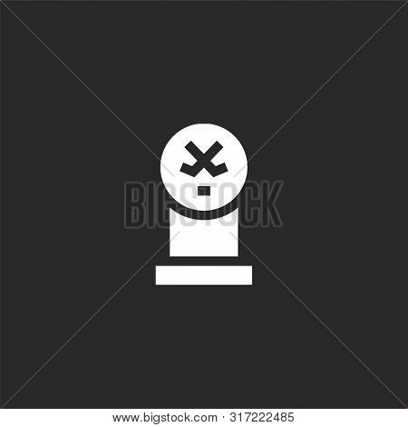 Trophy Icon. Trophy Icon Vector Flat Illustration For Graphic And Web Design Isolated On Black Backg