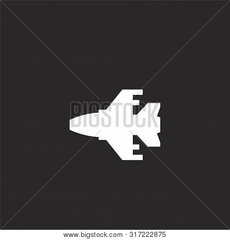 Jet Icon. Jet Icon Vector Flat Illustration For Graphic And Web Design Isolated On Black Background