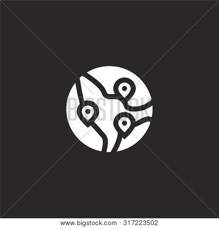 Destinations Icon. Destinations Icon Vector Flat Illustration For Graphic And Web Design Isolated On