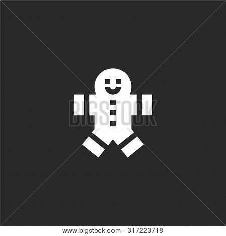 Gingerbread Man Icon. Gingerbread Man Icon Vector Flat Illustration For Graphic And Web Design Isola