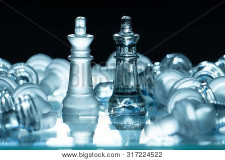The Concept Of Business Competition: Close-up Piece Of His Victory. The Winner Will Be The Only One