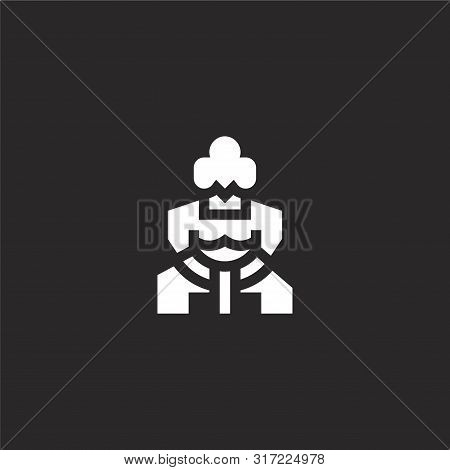 Sumo Icon. Sumo Icon Vector Flat Illustration For Graphic And Web Design Isolated On Black Backgroun