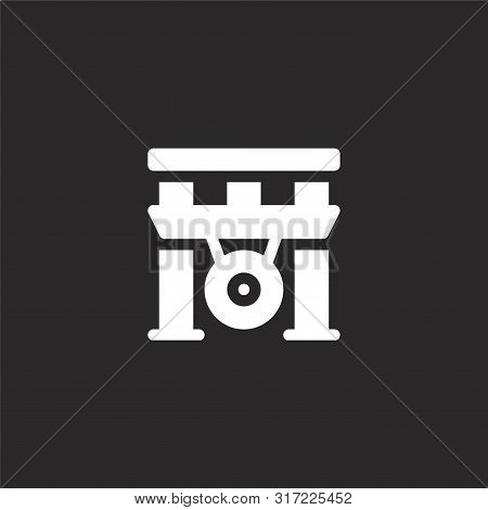 Gong Icon. Gong Icon Vector Flat Illustration For Graphic And Web Design Isolated On Black Backgroun