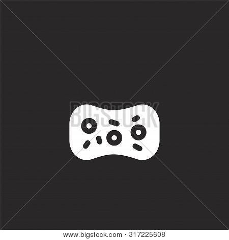 Sponge Icon. Sponge Icon Vector Flat Illustration For Graphic And Web Design Isolated On Black Backg