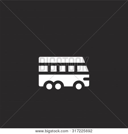 Van Icon. Van Icon Vector Flat Illustration For Graphic And Web Design Isolated On Black Background