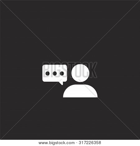 Support Icon. Support Icon Vector Flat Illustration For Graphic And Web Design Isolated On Black Bac