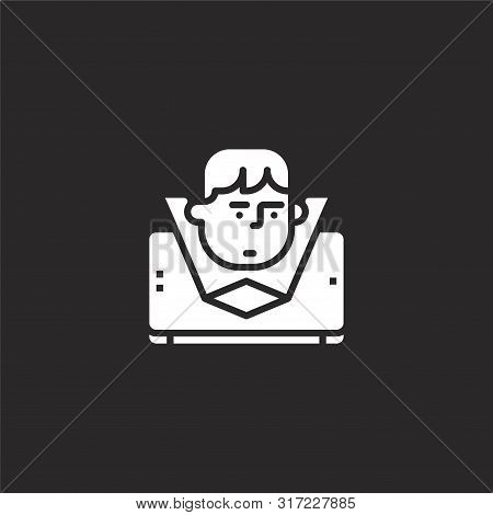 Hologram Icon. Hologram Icon Vector Flat Illustration For Graphic And Web Design Isolated On Black B