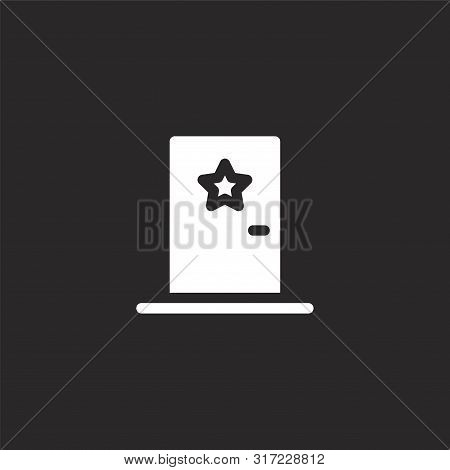 Artist Icon. Artist Icon Vector Flat Illustration For Graphic And Web Design Isolated On Black Backg