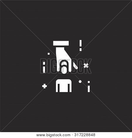 Hiring Icon. Hiring Icon Vector Flat Illustration For Graphic And Web Design Isolated On Black Backg