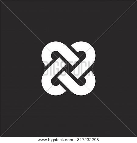 Interlocking Icon. Interlocking Icon Vector Flat Illustration For Graphic And Web Design Isolated On