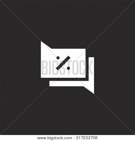 Conversation Icon. Conversation Icon Vector Flat Illustration For Graphic And Web Design Isolated On