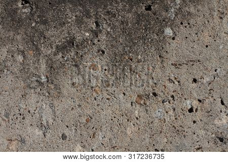 Gray Concrete Texture With Large Stones Fone