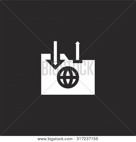 Big Data Icon. Big Data Icon Vector Flat Illustration For Graphic And Web Design Isolated On Black B
