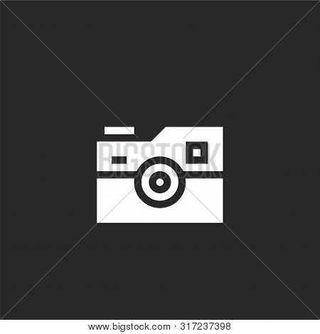 Photo Camera Icon. Photo Camera Icon Vector Flat Illustration For Graphic And Web Design Isolated On