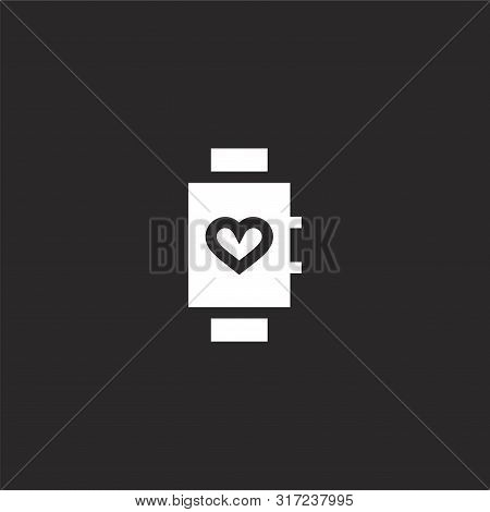 Smartwatch Icon. Smartwatch Icon Vector Flat Illustration For Graphic And Web Design Isolated On Bla