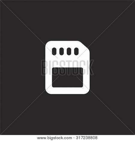 Memory Icon. Memory Icon Vector Flat Illustration For Graphic And Web Design Isolated On Black Backg