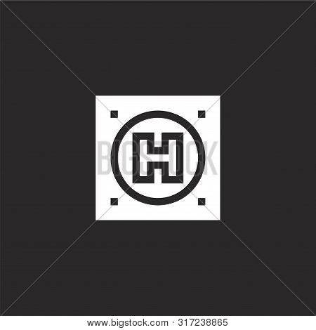 Hotel Icon. Hotel Icon Vector Flat Illustration For Graphic And Web Design Isolated On Black Backgro