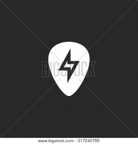 Guitar Pick Icon. Guitar Pick Icon Vector Flat Illustration For Graphic And Web Design Isolated On B
