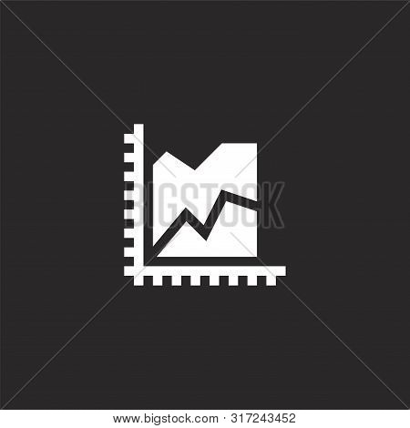 Area Chart Icon. Area Chart Icon Vector Flat Illustration For Graphic And Web Design Isolated On Bla