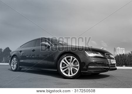 September 10, 2015 - Kyiv, Ua. Audi S7 Quattro On The Background Of The City.