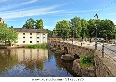 Old Bridge By The River In Orebro