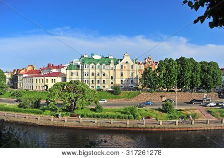 Scenic View Of Vyborg Old Town, Russia.