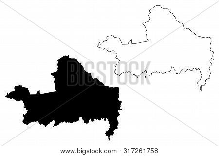 Gyor-moson-sopron County (hungary, Hungarian Counties) Map Vector Illustration, Scribble Sketch Győr