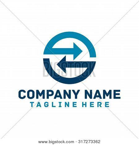 Invest - Business Logo Concept Illustration. Arrows Recycled Logo Concept. Abstract Abstract Arrows