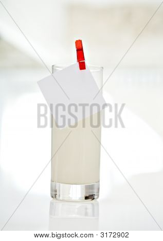 Glass Of Milk And Note