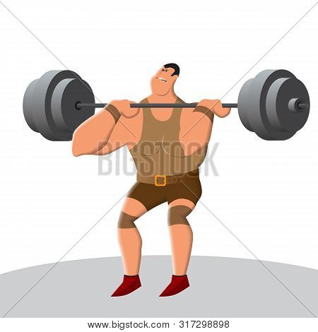 Weightlifting Develops Strength And Endurance. Lifting The Bar Is A Heavy And Tough Sport. A Strong