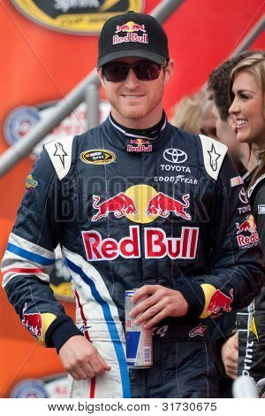 FONTANA, CA. - MARCH 27: Kasey Kahne driver of the #4 Red Bull Toyota before the NASCAR Sprint Cup Series Auto Club 400 on March 27 2011 at Auto Club Speedway.