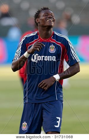 CARSON, CA. - JUNE 1: Chivas USA D Seth Owusu #33 before the MLS game between Vancouver Whitecaps & Chivas on June 1 2011 at the Home Depot Center.