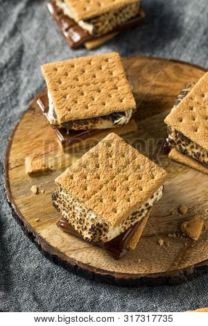 Homemade Gooey Smores Sandwiches