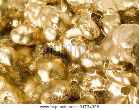 Gold texture closeup background.