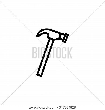 Hammer Vector Line Icon. Craft, Repair, Instrument. Craft Concept. Vector Illustration Can Be Used F