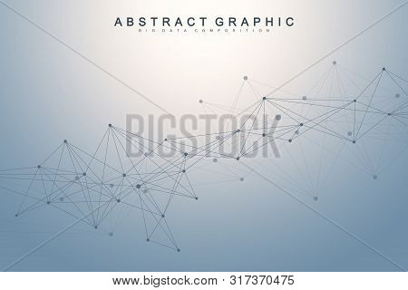Nano Technologies Abstract Background. Cyber Technology Concept. Artificial Intelligence, Virtual Re