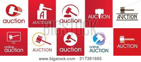 Vector Set Of Logos For Bidding And Auctions
