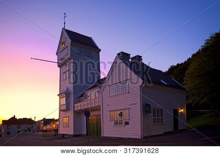 Bergen, Norway - July 26, 2019: Skansens Bataljon - Buekorps Located In The Old Fire Station, At The